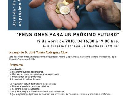 """Jornada """" Pensiones para un próximo futuro """""""