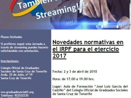 Novedades normativas en el IRPF 2017