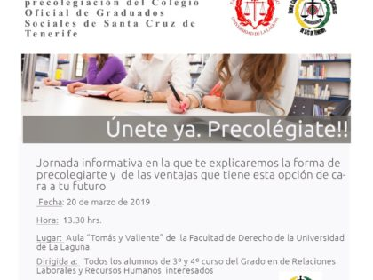 Jornada de Precolegiación para los alumnos de RR.LL.