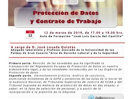 Jornada sobre protección de datos y contrato de trabajo