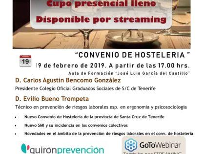 Jornada Convenio Colectivo de Hostelería en Tenerife