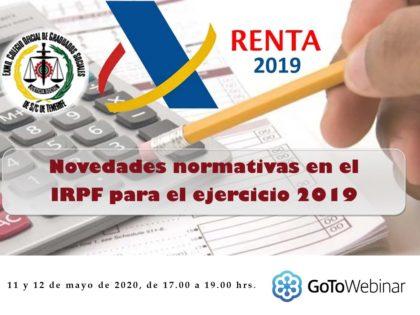 Novedades normativas en el IRPF para el ejercicio 2019
